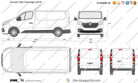 renault trafic dimensions the blueprints com vector drawing renault trafic passenger