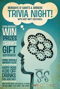 quiz night flyer template free images With trivia night poster template