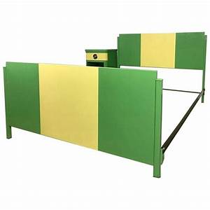 Norman Bel Geddes Two Tone Art Deco Twin Bed With