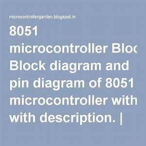 8051 Microcontroller Block Diagram And Pin Diagram Of 8051