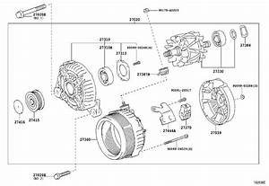 Toyota Corolla Bolt For Alternator   Cvt  Cnd  Std - 90105a0267
