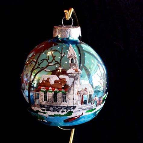 hand painted christmas ornament item 104