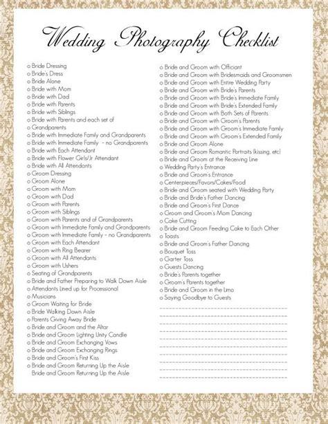wedding photography checklist  wouldnt