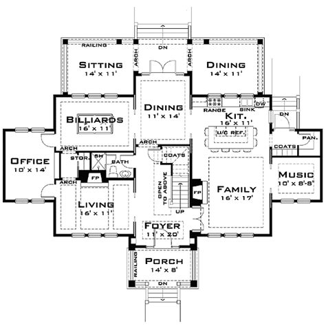 plan td   large family architecture