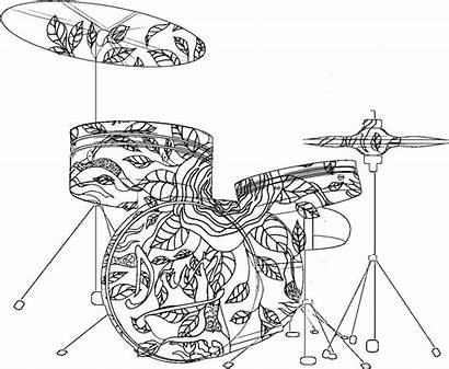 Coloring Pages Musical Mandala Sheets Drum Adult