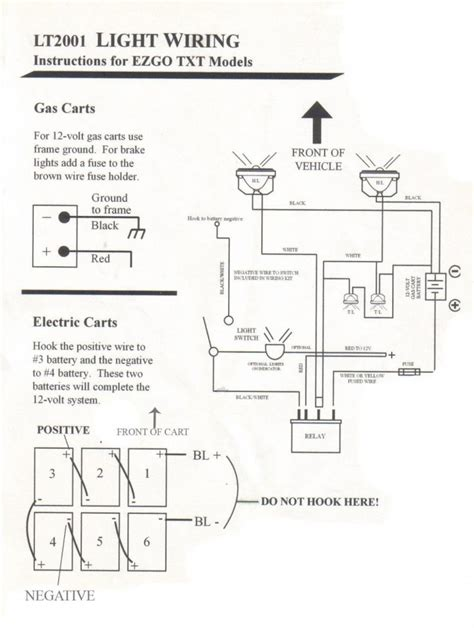 Go Light Wiring Diagram by Simple Golf Cart Light Wiring Diagram Wiring Diagram