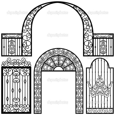Gate Cast Iron Coloring Pages Print Coloring