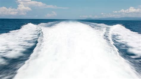 Fast Wake Boats by Wake From A Motor Boat Stock Footage Video 4568000