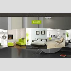 Interior Design Website Template #51116