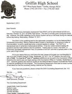 High School Parent Letter