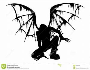 Fallen Angel Silhouette stock illustration. Illustration ...