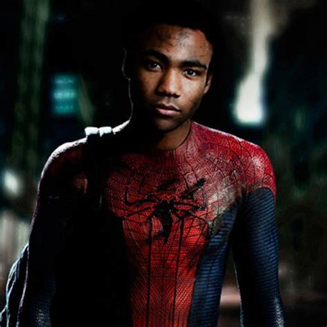 donald glover for spiderman donald glover will leave the spider man caigning to