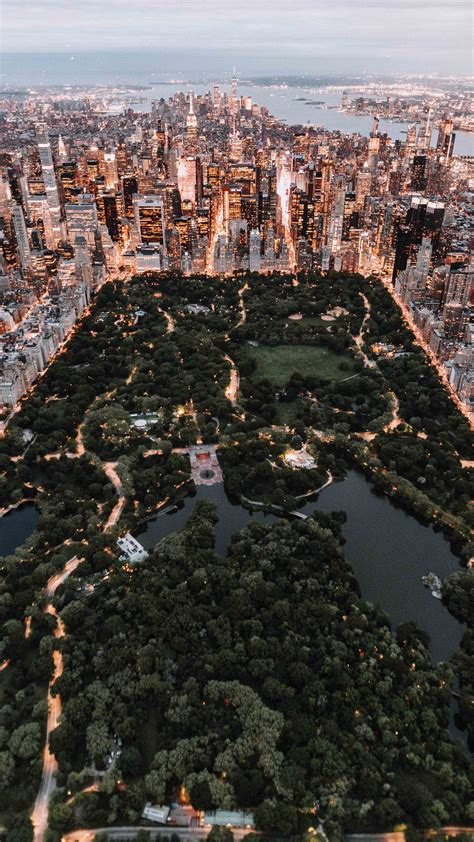 central park from above new york city iphone x wallpaper