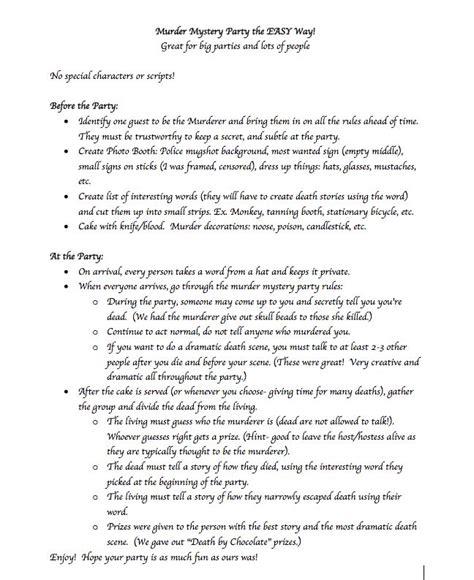 Best 25+ Murder Mystery Script Ideas On Pinterest