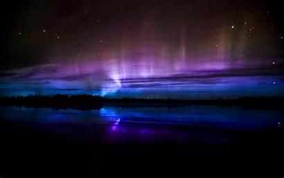 Purple Neon Lights Night Northern Wallpapers Nature