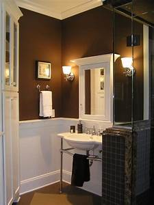 brown bathroom walls design decoration With kitchen colors with white cabinets with gold unity candle holder
