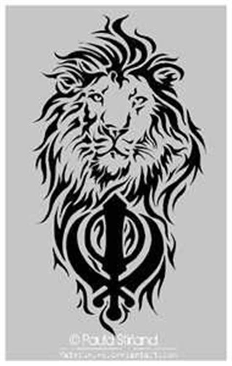 Punjabi Khanda | Sikh Lion And Khanda Tattoo On Shoulder | Ideas for the House | Zeichnungen