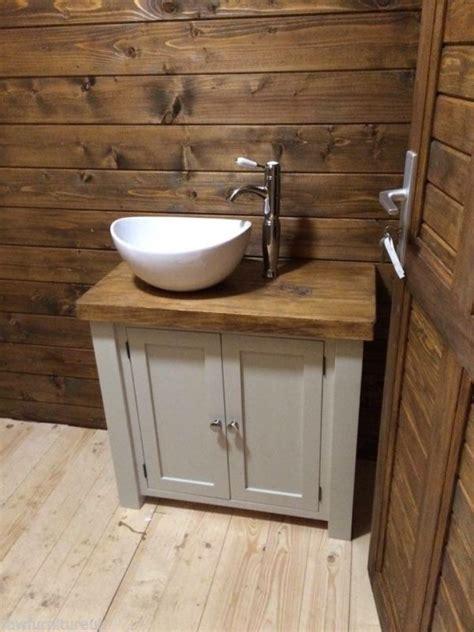 Rustic Bathroom Vanity Units by Chunky Rustic Painted Bathroom Sink Vanity Unit Wood