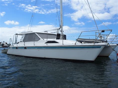 Catamarans For Sale Qld by Voyager 36 Sailing Catamaran For Sale Fibreglass Grp