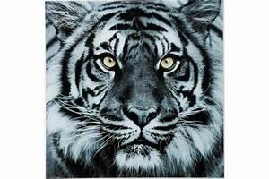 Tableau Tigre En Verre Sharon Tableau Animaux Pas Cher