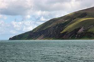 Steep cliffs along the Sound of Islay