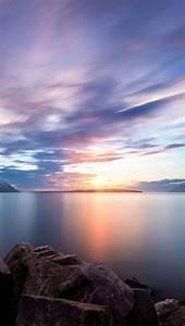 Nordic Lake Sunset iOS7 Beautiful iPhone 5 Wallpaper ...