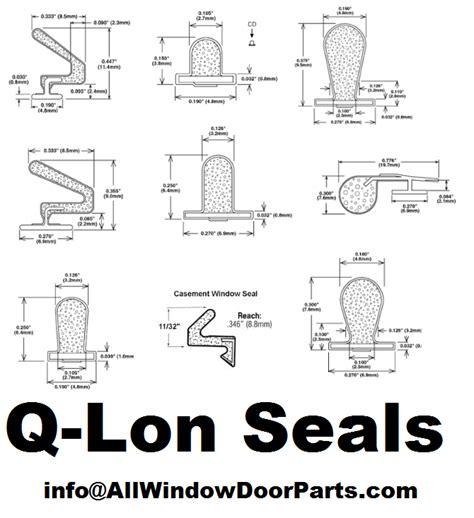 lon foam seals qlon  slot foam  lon weather strip parts weatherstripping qez seals