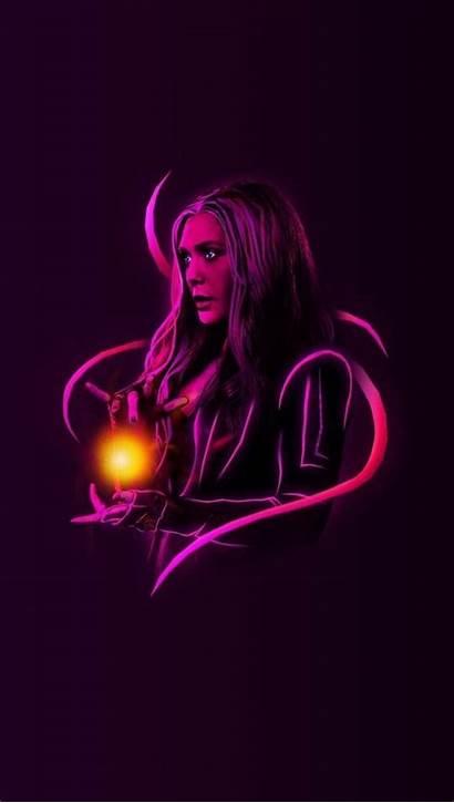 Neon Scarlet Wallpapers Marvel Avengers Witch Wanda