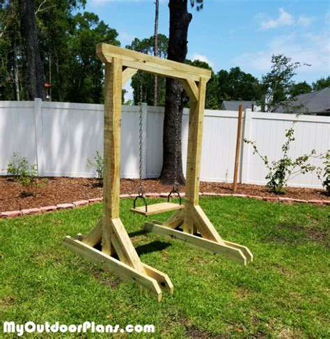 diy wooden swing stand myoutdoorplans  woodworking