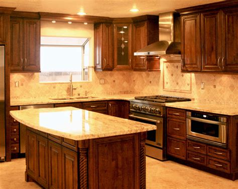 dark brown woodne kitchen cabinet and dark brown wooden