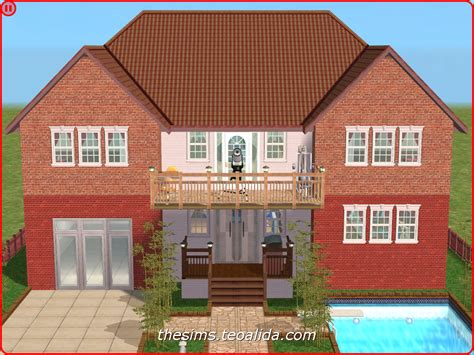 houses plans symmetrical palace style house on 2x2 lot the sims fan page