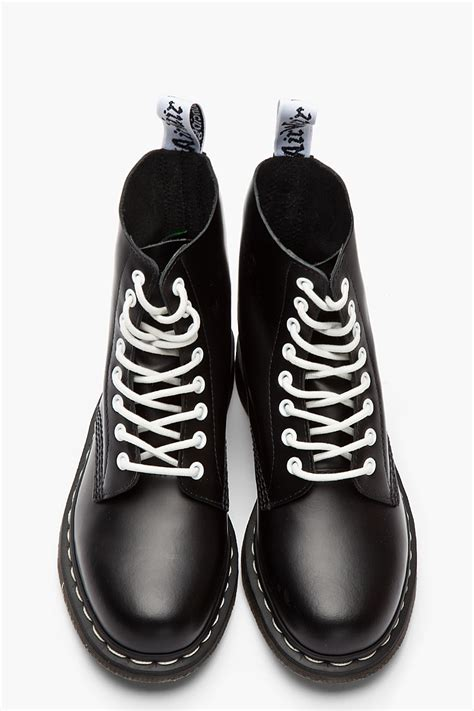 lyst dr martens black white buffed leather 8eye pascal