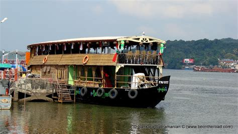 Boat Cruise With Music On The Mandovi River riding past the cruise boats on mandovi river at panjim
