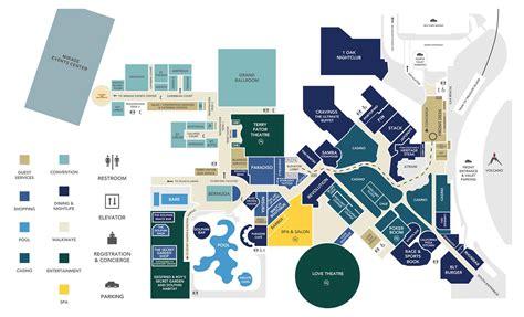 mirage casino property map floor plans las vegas