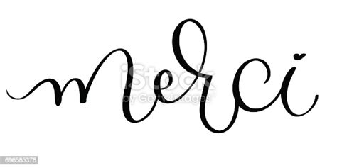 merci vector vintage word text calligraphy lettering