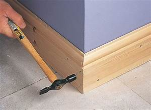 How to fit skirting board ideas advice diy at bq for What kind of paint to use on kitchen cabinets for number 7 wall art