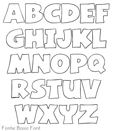 The Alphabet Templates by Template For Letters Of The Alphabet Alphabet Letters