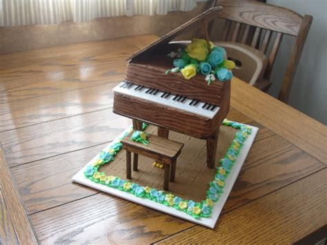 cakes   sugar cains piano birthday cake