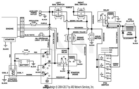 Gravely Walk Wiring Diagram by Gravely 988124 007000 He1748fxp Recoil Pro Steer 48