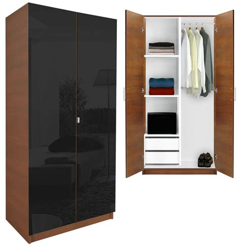 Black Wood Wardrobe Closet by Alta Wardrobe Closet Half And Half Contempo Space