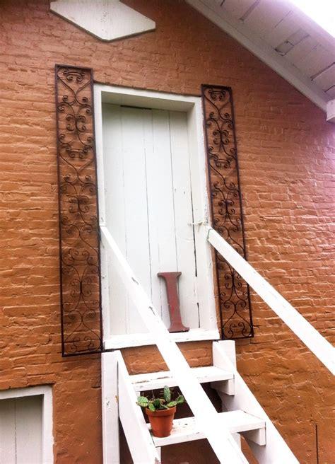 wrought iron orleans door exterior shutters