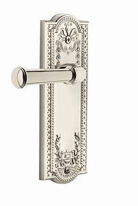 Parthenon Plate With Georgetown Lever Polished Nickel