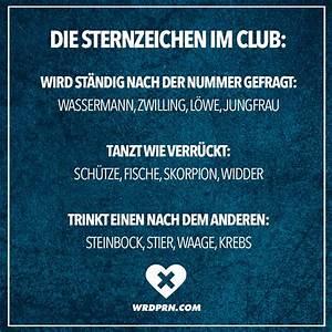 Sternzeichen Steinbock Widder : die sternzeichen im club wird st ndig nach der nummer gefragt wassermann zwilling l we ~ Markanthonyermac.com Haus und Dekorationen