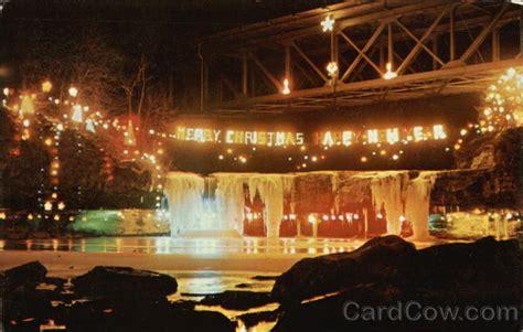 annual christmas lighting ludlow falls oh