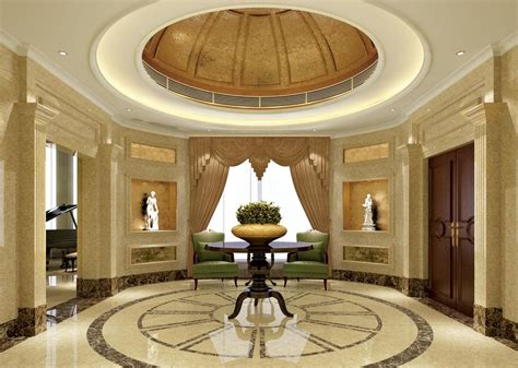 Winsome Entrance Design With Angelic Floor And Ceiling