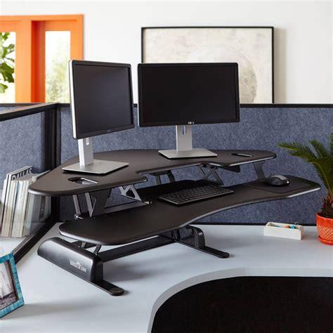 3 monitor standing desk standing desk products varidesk sit to stand desks
