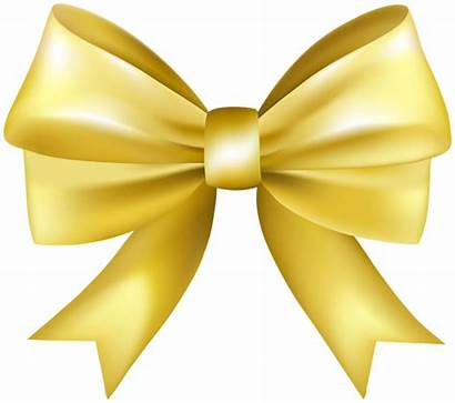 Bow Yellow Clip Decorative Clipart Ribbons Transparent