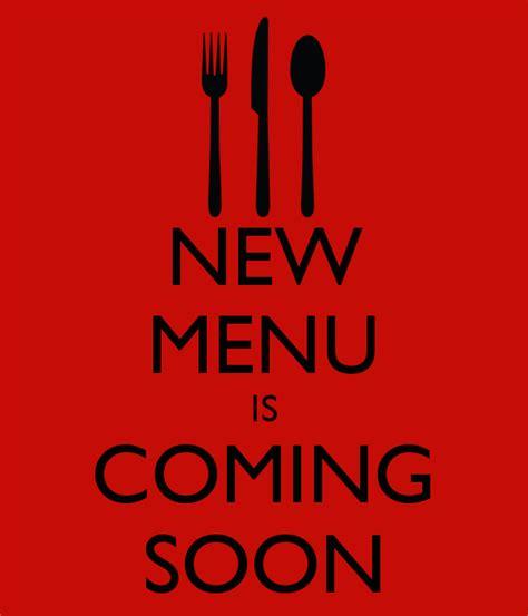 New Menu Is Coming Soon Poster  Rachgal  Keep Calmomatic
