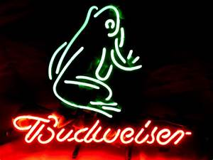 Wiki Neon Sign Blog BUDWEISER FROG BEER BAR NEON LIGHT