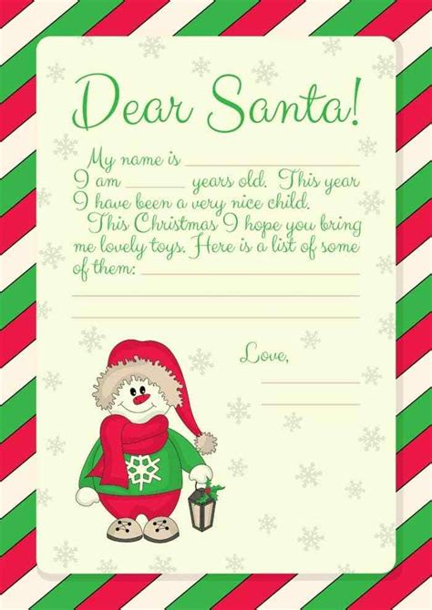 santa letter template free printables letter to santa templates and how to get a reply from the big himself